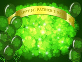 St Patricks Day Two Green Beers Banner Shamrock — Stock Photo