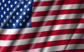 USA Stars and Stripes Flying American Flag — Stock Photo