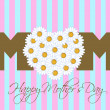 Happy Mothers Day with Daisy Flowers Heart — Stockfoto