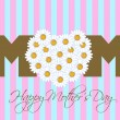 Happy Mothers Day with Daisy Flowers Heart — Stok fotoğraf
