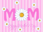Happy Mothers Day with Daisy Flowers — Stock Photo