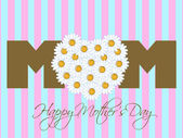 Happy Mothers Day with Daisy Flowers Heart — Stock Photo