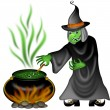 Stock Photo: Halloween Witch Illustration