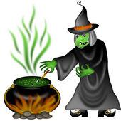 Halloween czarownica ilustracja — Zdjęcie stockowe