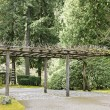 Trellis at Portland Japanese Garden — Stock Photo