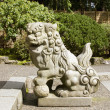 Japanese Stone Guardian Lions Sculpture — Stock Photo