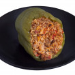 Stuffed green pepper — Stock Photo