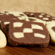 Checkerboard cookies — Stock Photo