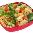 Pasta salad and veggies - Stock Photo