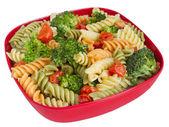 Těstovinový salát a vegetariáni — Stock fotografie