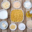 Stock Photo: Mac and cheese ingredients