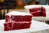 Red velvet ciasto — Zdjęcie stockowe