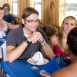 Diners on a cruise — Stock Photo