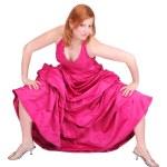 Redhead prom girl — Stock Photo
