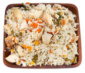 Chicken with rice — Stock Photo