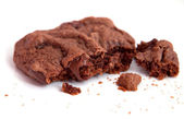 Closeup chocolate chunk cookie — Stock Photo