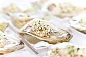 Oyster half shell — Stock Photo