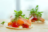 2 salmon taquitos — Stock Photo
