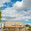 Stock Photo: New home construction framing