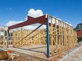 New home construction framing — Stockfoto