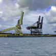 Harbour cranes - Stock Photo