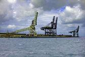 Gru portuali — Foto Stock