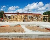 Nouveau cadrage de construction de maisons — Photo