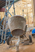 Concrete mixer at construction cite — Stock Photo