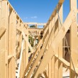 New home construction framing — Stock Photo #5293865