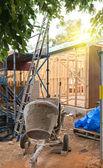 Concrete mixer at construction cite — Stock Photo
