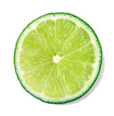 Slice of fresh lime — Stock Photo