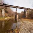Old railroad bridge over creek — Stock fotografie #4203747