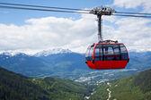在加拿大惠斯勒山顶空中缆车 — 图库照片