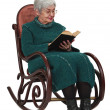Old woman reading — Stock Photo #4722386