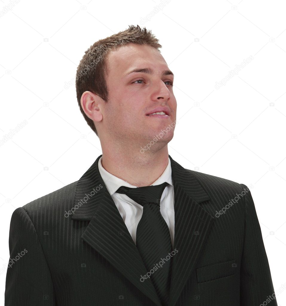 Portrait of a young businessman isolated against a white background. — Stock Photo #4725810