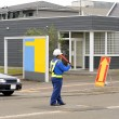 Man directing traffic 2 — Stock Photo
