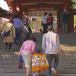 7,5,3 (Shichi-go-san)-goind up to the temple - Stock Photo
