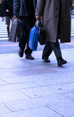 Businessmen shopping — Stock Photo