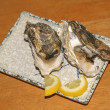 Oyster shells (Kaki) — Stock Photo