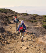 Mountain hikers — Stockfoto