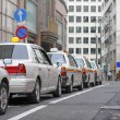Japanese cabs - Stock Photo