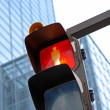 Traffic light in a city — Stock Photo