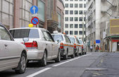 Japanese cabs — Stock Photo
