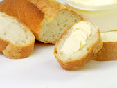 Bread with margarine — Stock Photo
