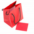 Royalty-Free Stock Photo: Red bag and card