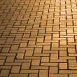 Pavement in dusk lighting - Stock Photo
