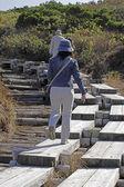 Asian hiker — Foto Stock