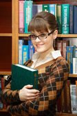 Student reads — Stock Photo