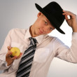 Stock Photo: Men in hat