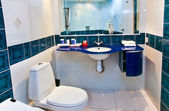 Bathroom interior of brand new luxury resort hotel — Stock Photo